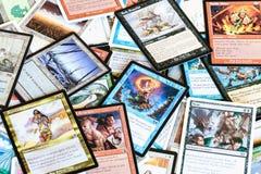 Diversas tarjetas de la magia el juego de mesa de acopio imágenes de archivo libres de regalías