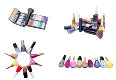 Diversas terminales de marcado manual de cosméticos Fotos de archivo