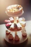 Diversas tortas sabrosas Foto de archivo libre de regalías