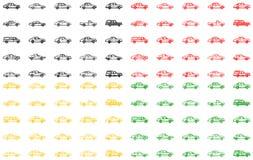 Diversas variantes de los coches fotos de archivo