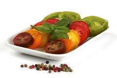 Diversas variedades de tomate orgánico Fotografía de archivo libre de regalías