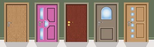 Diversas ventanas ilustración del vector