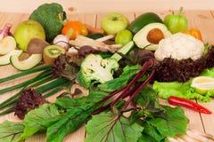 Diversas verduras frescas Fotos de archivo libres de regalías