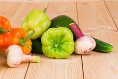 Diversas verduras frescas Imágenes de archivo libres de regalías
