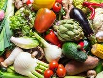 Diversas verduras orgánicas Fondo multicolor de la comida foto de archivo