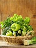 Diversas verduras verdes Foto de archivo libre de regalías