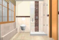 Diversas vistas do banheiro luxuoso Fotografia de Stock Royalty Free