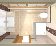 Diversas vistas do banheiro luxuoso Imagens de Stock Royalty Free