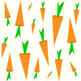Diversas zanahorias de la naranja del tamaño Modelo retro aislado inconsútil en fondo ligero Ilustración del vector Imagen de archivo libre de regalías