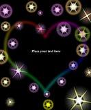 Diverse étoile abstraite d'étincelle Photos stock