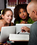 Diverse adult study group Royalty Free Stock Photography