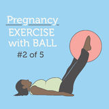 A Diverse African American Young Lady doing her Pregnancy Exerci Stock Image