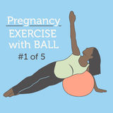A Diverse African American Young Lady doing her Pregnancy Exerci Stock Photo