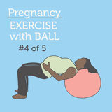 A Diverse African American Young Lady doing her Pregnancy Exerci Stock Images
