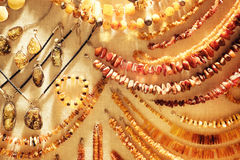Diverse Amber Necklaces Image stock