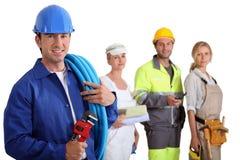 Diverse arbeiders stock afbeelding