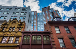 Diverse architecture in Boston, Massachusetts. Stock Photo