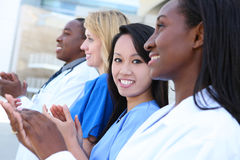 Diverse Attractive Medical Team Stock Photography