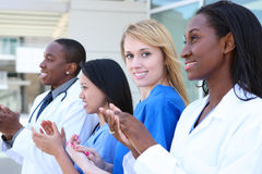 Diverse Attractive Medical Team Stock Images
