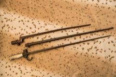 Diverse bajonetten Stock Foto