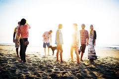 Diverse Beach Summer Friends Fun Bonding Concept Royalty Free Stock Images