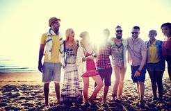 Diverse Beach Summer Friends Fun Bonding Concept Royalty Free Stock Photo