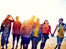 Diverse Beach Summer Friends Fun Bonding Concept Stock Photography