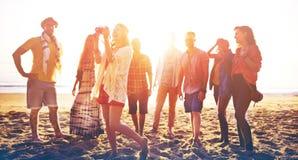 Diverse Beach Summer Friends Fun Bonding Concept Stock Image