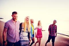 Diverse Beach Summer Friends Fun Bonding Concept Stock Images