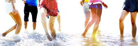 Diverse Beach Summer Friends Fun Running Concept Royalty Free Stock Photography