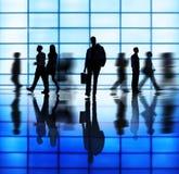 Diverse Bedrijfsmensen in Spitsuur Stock Afbeeldingen