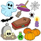 Diverse beelden 3 van Halloween stock illustratie