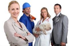 Diverse beroepen Stock Foto's