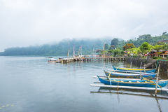 Diverse bootdiensten voor recreatie in Pura Ulun Danu Bratan, Bali, Indonesië Royalty-vrije Stock Fotografie