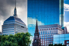 Diverse buildings in Boston, Massachusetts. Royalty Free Stock Image