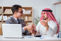 The diverse business concept with arab businessman. Diverse business concept with arab businessman Royalty Free Stock Photography