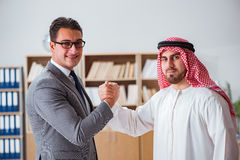The diverse business concept with arab businessman. Diverse business concept with arab businessman Stock Image