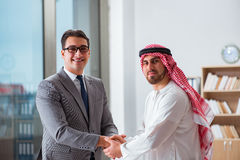The diverse business concept with arab businessman. Diverse business concept with arab businessman Stock Photos