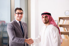 The diverse business concept with arab businessman. Diverse business concept with arab businessman Stock Photography