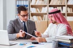 The diverse business concept with arab businessman. Diverse business concept with arab businessman Stock Images