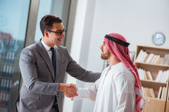 The diverse business concept with arab businessman. Diverse business concept with arab businessman Royalty Free Stock Image