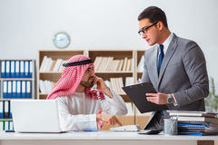 The diverse business concept with arab businessman Royalty Free Stock Photography