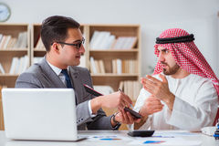 The diverse business concept with arab businessman. Diverse business concept with arab businessman Royalty Free Stock Photos