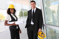 Diverse Business Construction Team Stock Image