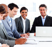 A diverse business group in a meeting Stock Photo