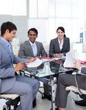 A diverse business group in a meeting Royalty Free Stock Images
