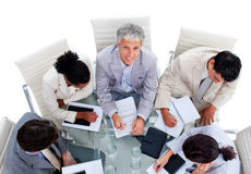 A diverse business group in a meeting Stock Image
