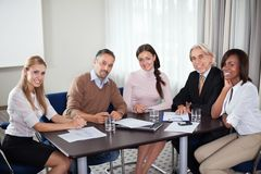 Diverse business group at meeting in office Stock Images