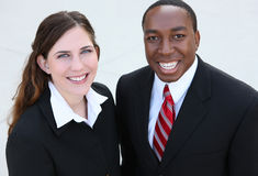 Diverse Business Man and Woman Team Stock Photo
