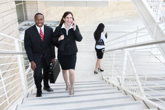Diverse Business Man and Woman Team Stock Images